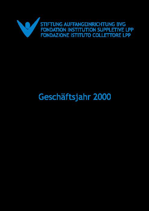 Jahresbericht 2000