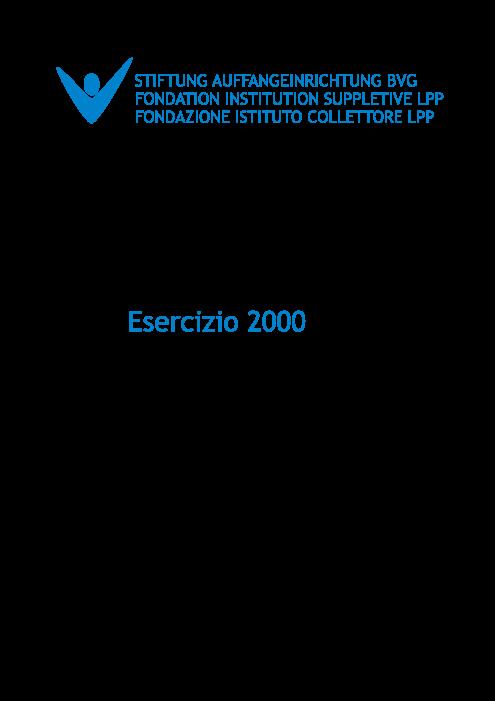 Rapporto annuale 2000