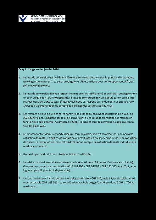 Factsheet plans W20
