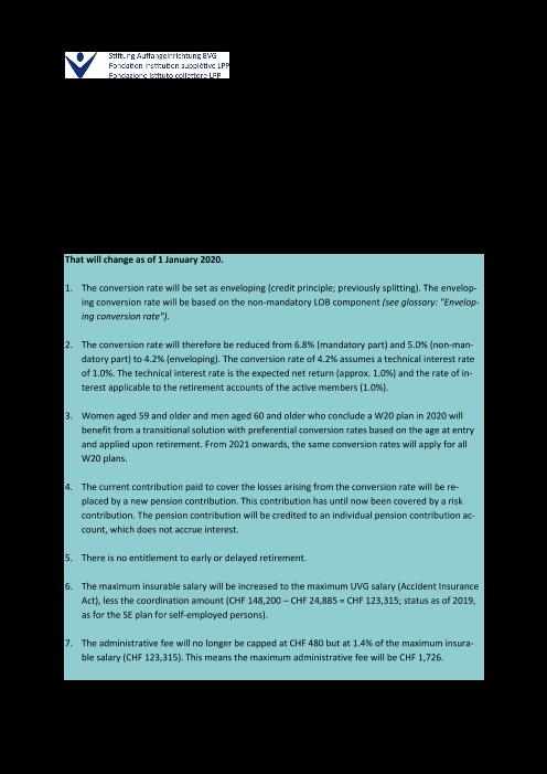 Factsheet W20 plans