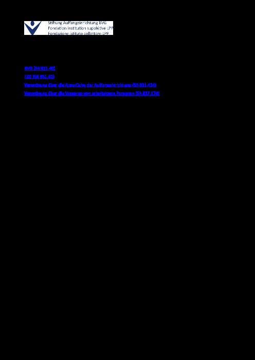 BVG Stand 2020