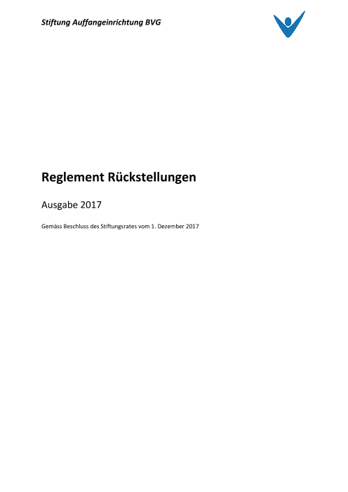 Rückstellungsreglement 2017