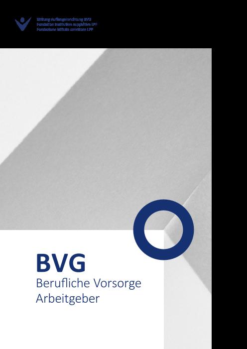 Infobroschüre BVG Arbeitgeber