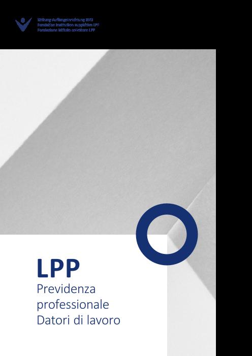 Opuscolo informativo LPP datori di lavoro