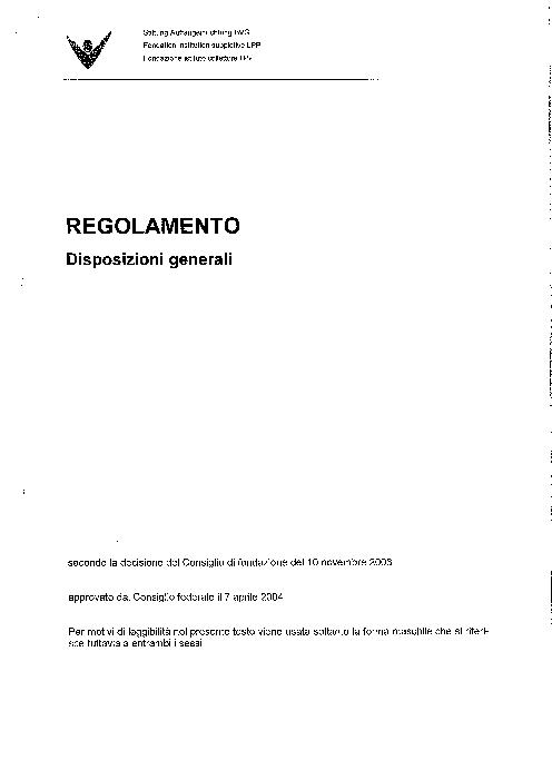 DG - Disposizioni generali 2004