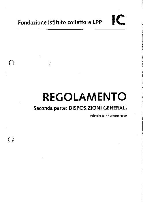 DG - Disposizioni generali 1999