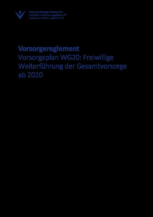 Vorsorgeplan WG20 - Stand 2022