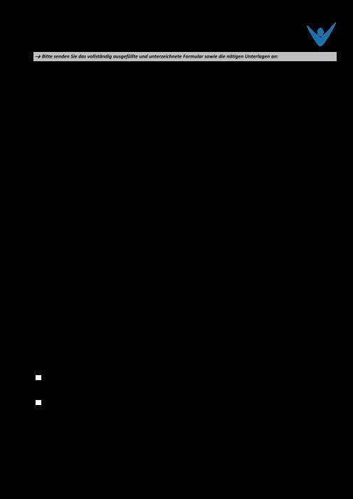 Übertragsformular FZL