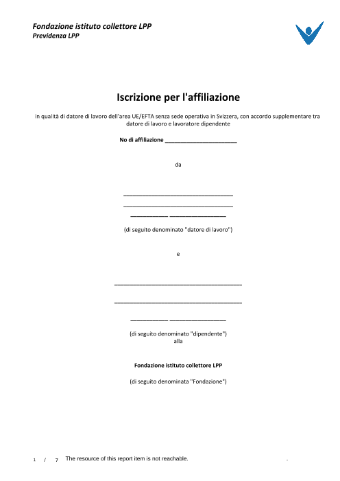 Moduli di adesione BoAsch